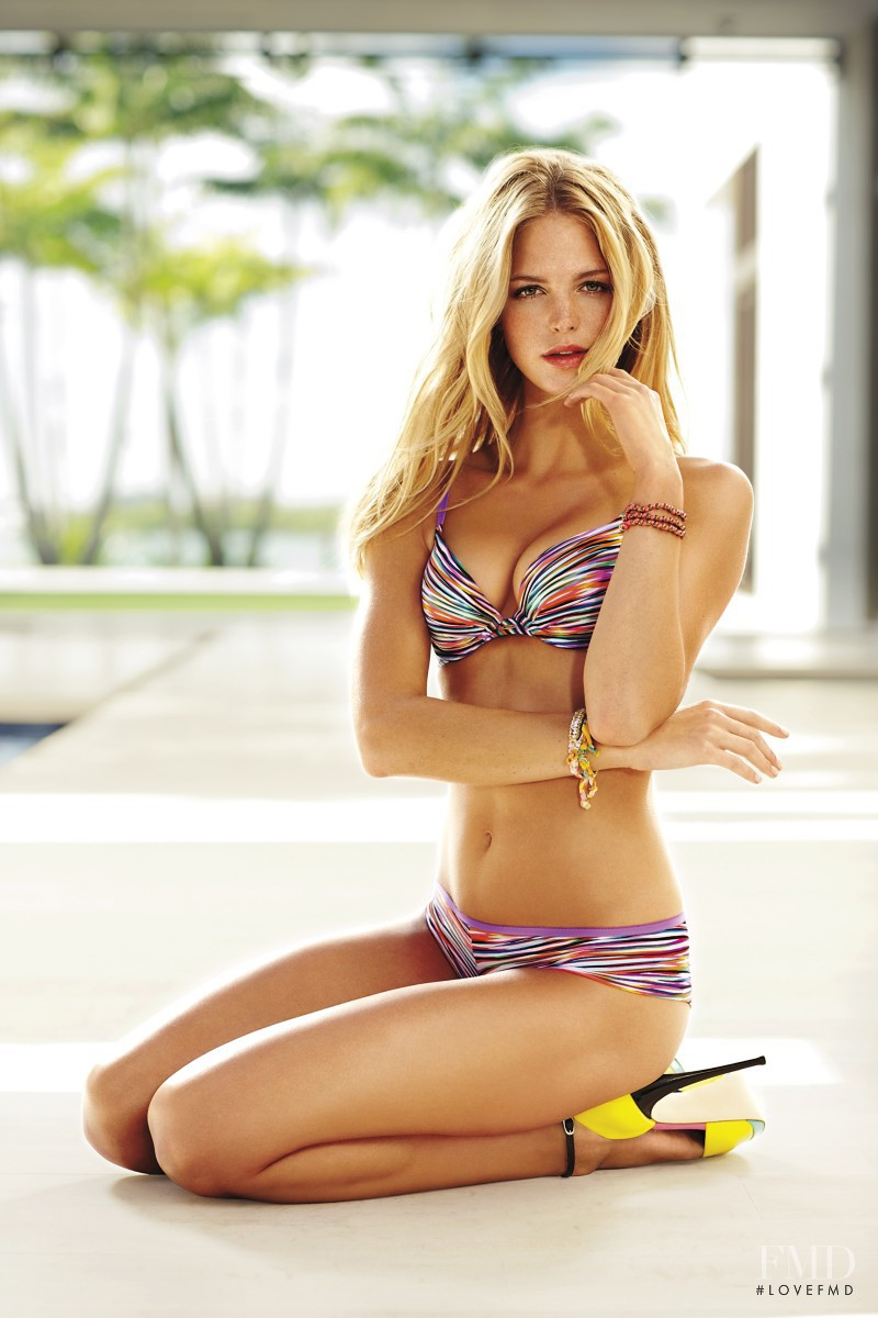 Erin Heatherton featured in  the Victoria\'s Secret Fabulous catalogue for Spring/Summer 2012