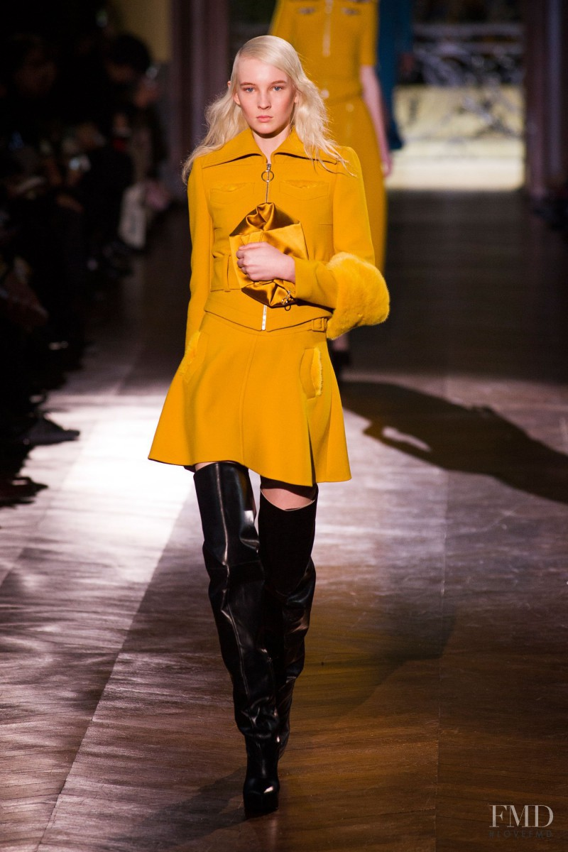 Nastya Sten featured in  the Carven fashion show for Autumn/Winter 2014