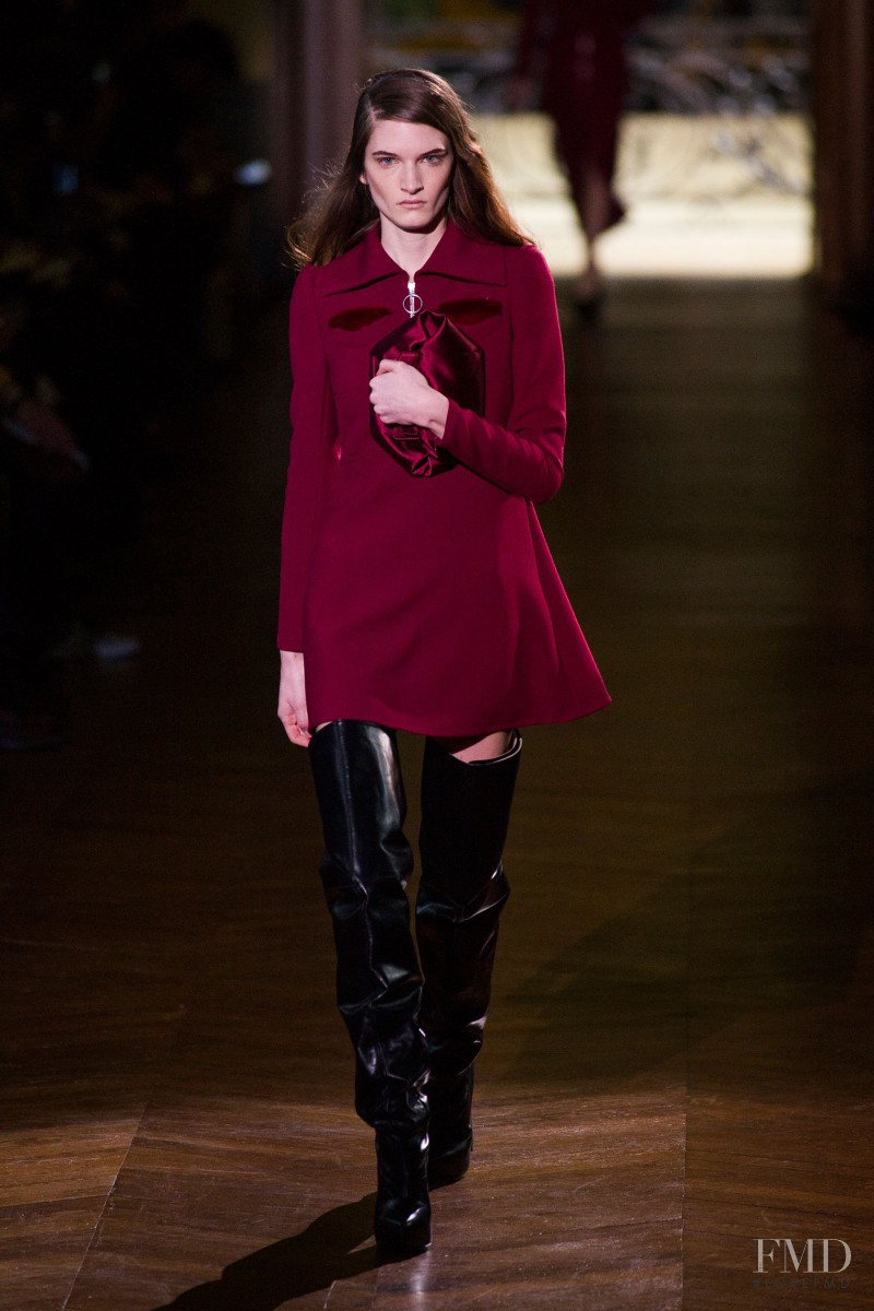 Carly Moore featured in  the Carven fashion show for Autumn/Winter 2014