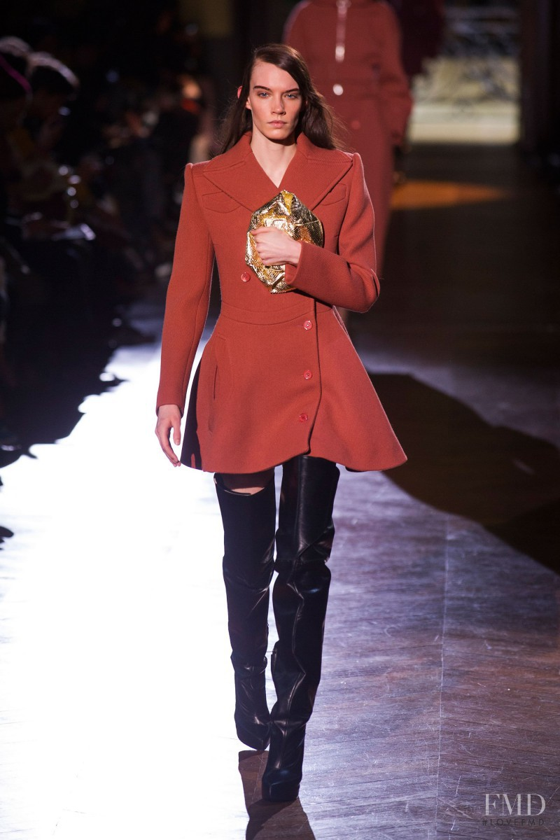 Megan Thompson featured in  the Carven fashion show for Autumn/Winter 2014