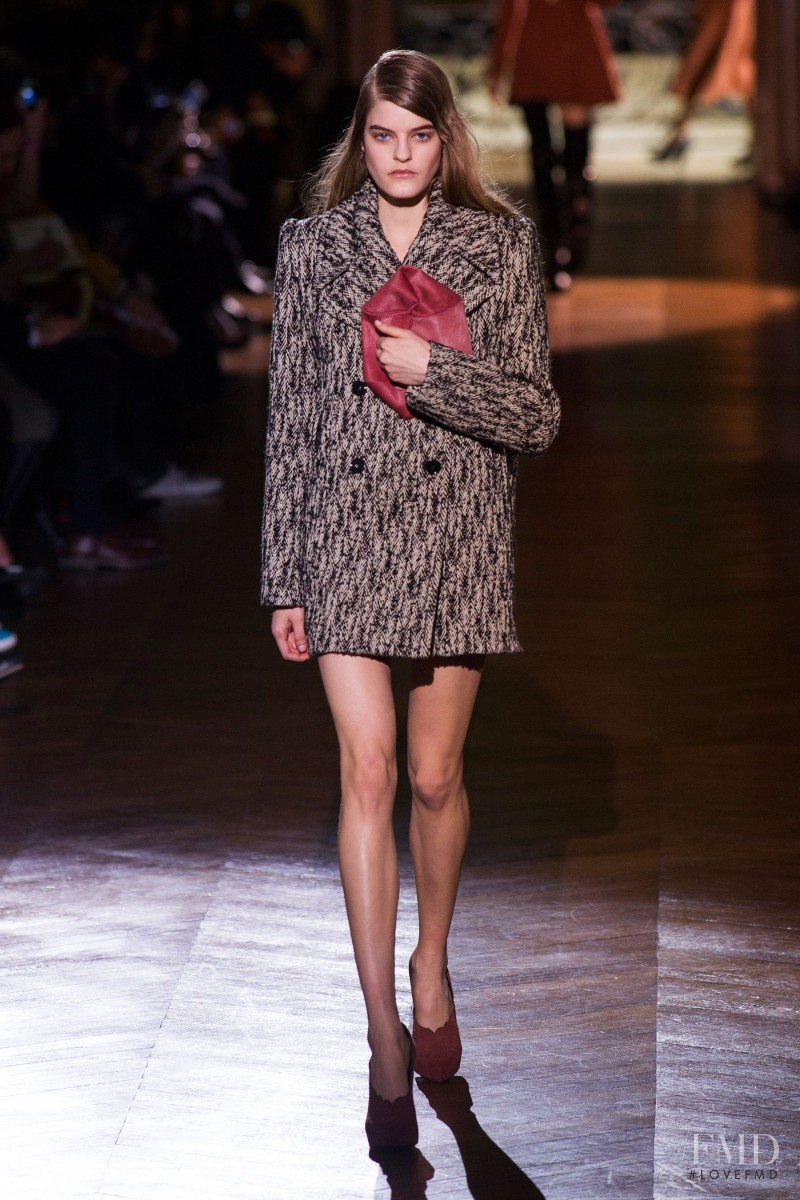 Kia Low featured in  the Carven fashion show for Autumn/Winter 2014