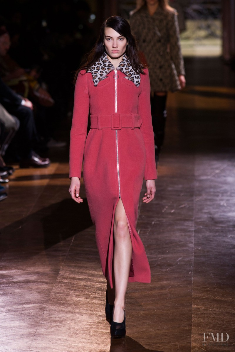 Dana Taylor featured in  the Carven fashion show for Autumn/Winter 2014