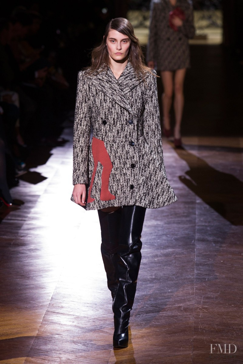 Charlotte Wiggins featured in  the Carven fashion show for Autumn/Winter 2014