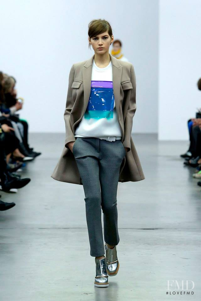 Valery Kaufman featured in  the Iceberg fashion show for Autumn/Winter 2014