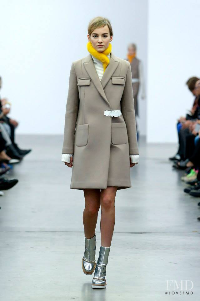 Maartje Verhoef featured in  the Iceberg fashion show for Autumn/Winter 2014