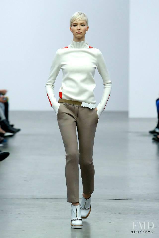 Sasha Luss featured in  the Iceberg fashion show for Autumn/Winter 2014