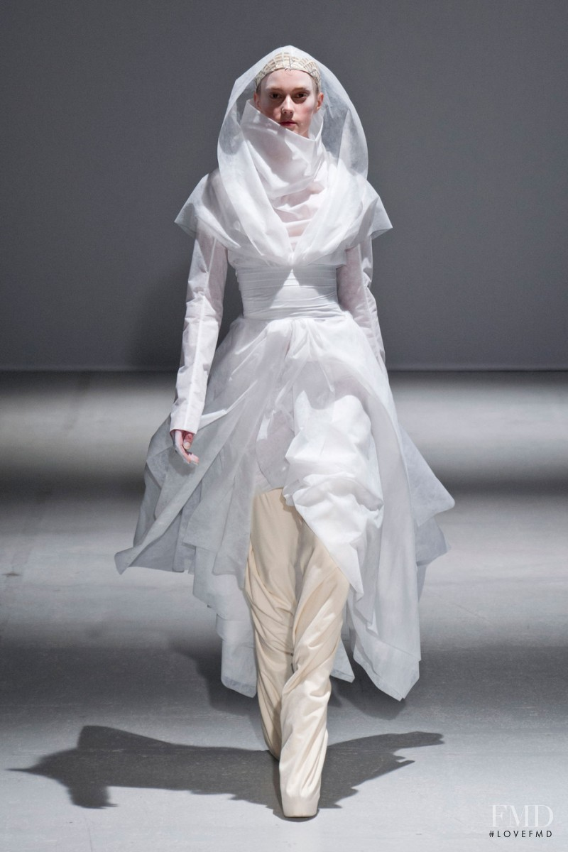 Sigrid Agren featured in  the Gareth Pugh fashion show for Autumn/Winter 2014