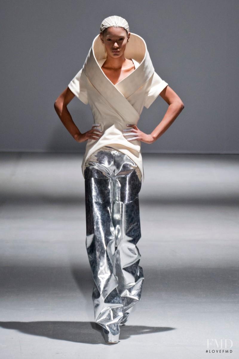 Ysaunny Brito featured in  the Gareth Pugh fashion show for Autumn/Winter 2014