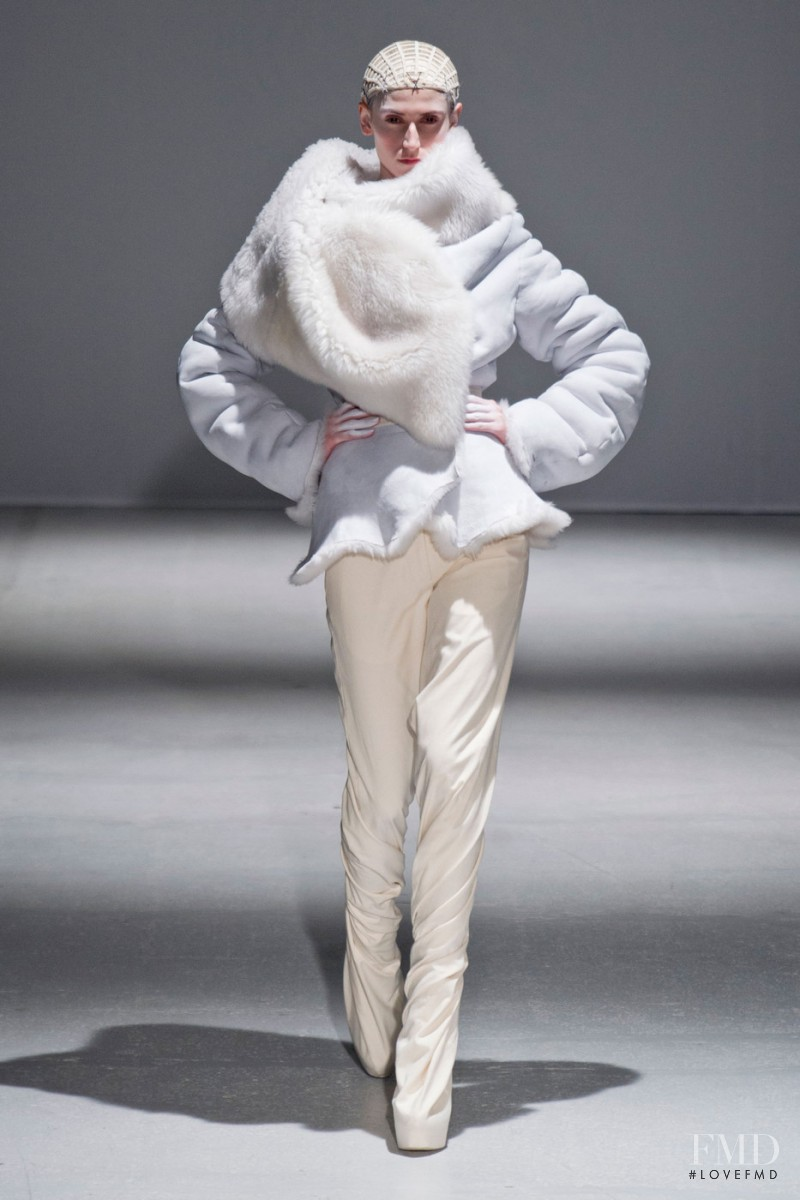 Daiane Conterato featured in  the Gareth Pugh fashion show for Autumn/Winter 2014