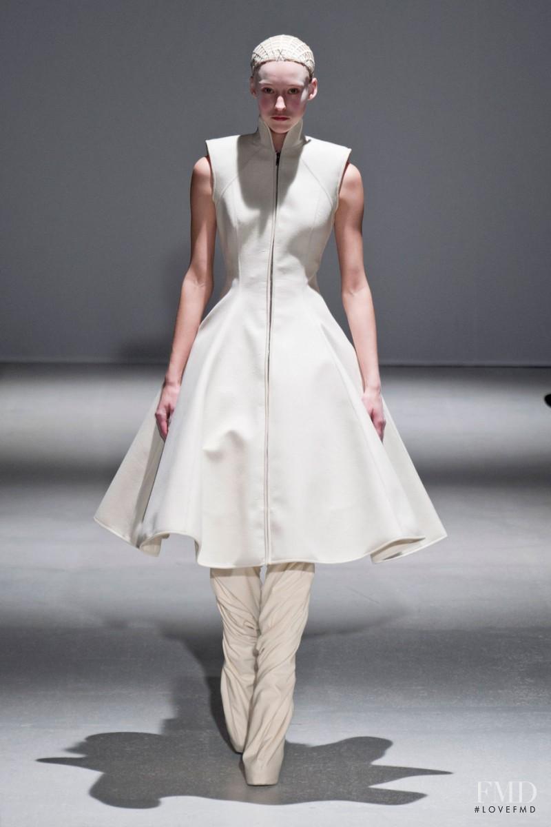 Eva Berzina featured in  the Gareth Pugh fashion show for Autumn/Winter 2014