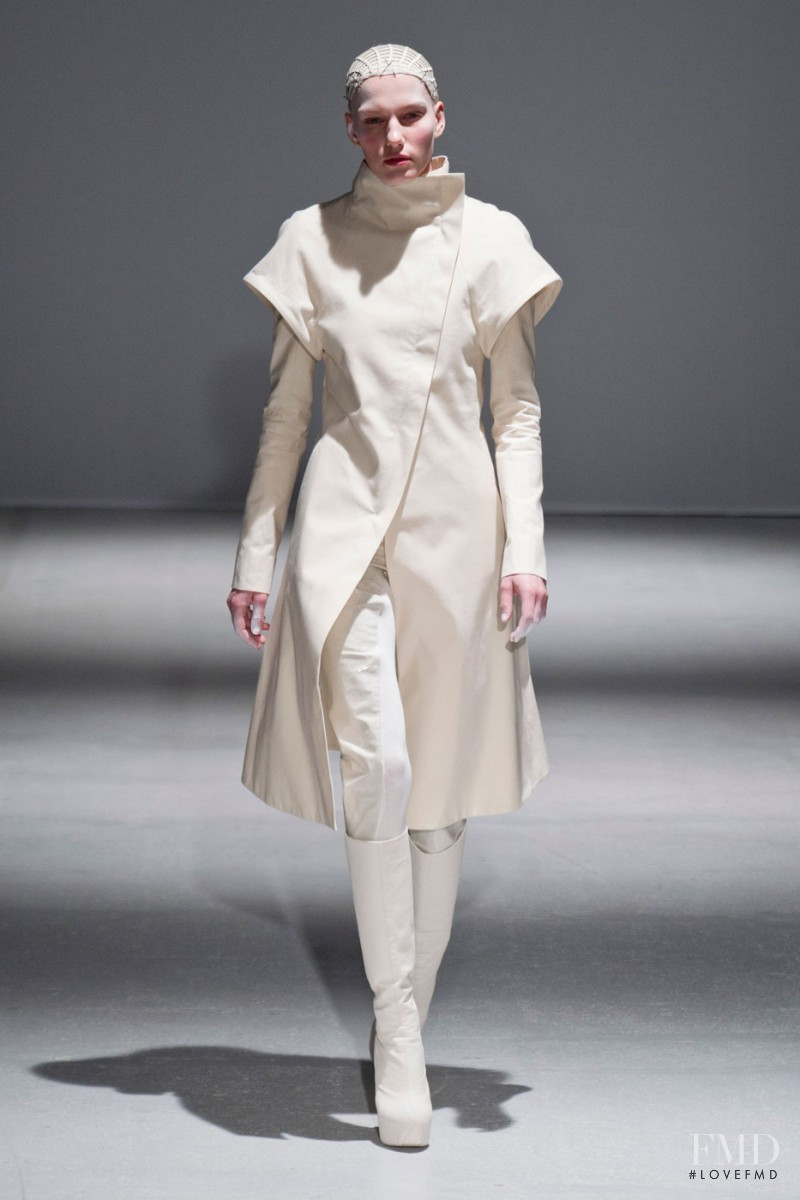 Marique Schimmel featured in  the Gareth Pugh fashion show for Autumn/Winter 2014