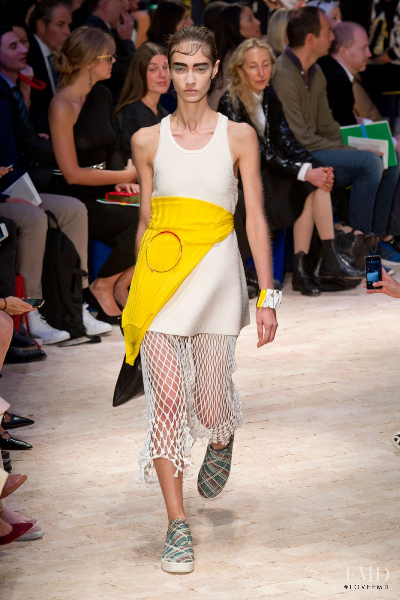 Marine Deleeuw featured in  the Celine fashion show for Spring/Summer 2014