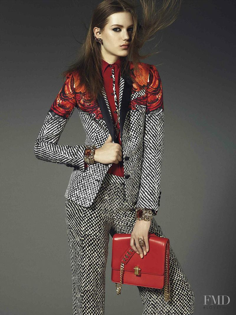 Esther Heesch featured in  the Roberto Cavalli catalogue for Autumn/Winter 2013