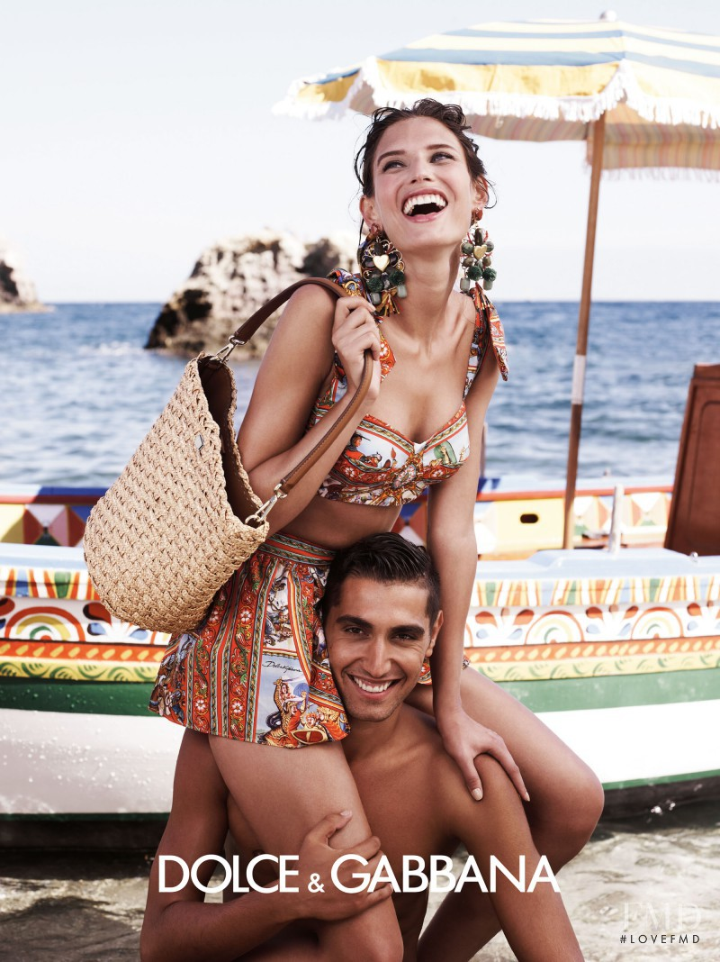 Bianca Balti featured in  the Dolce & Gabbana advertisement for Spring/Summer 2013