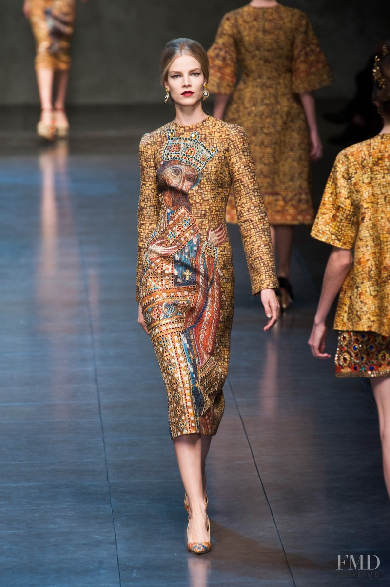 Suvi Koponen featured in  the Dolce & Gabbana fashion show for Autumn/Winter 2013