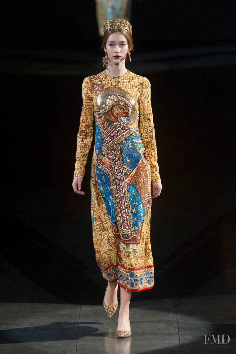 Alana Zimmer featured in  the Dolce & Gabbana fashion show for Autumn/Winter 2013