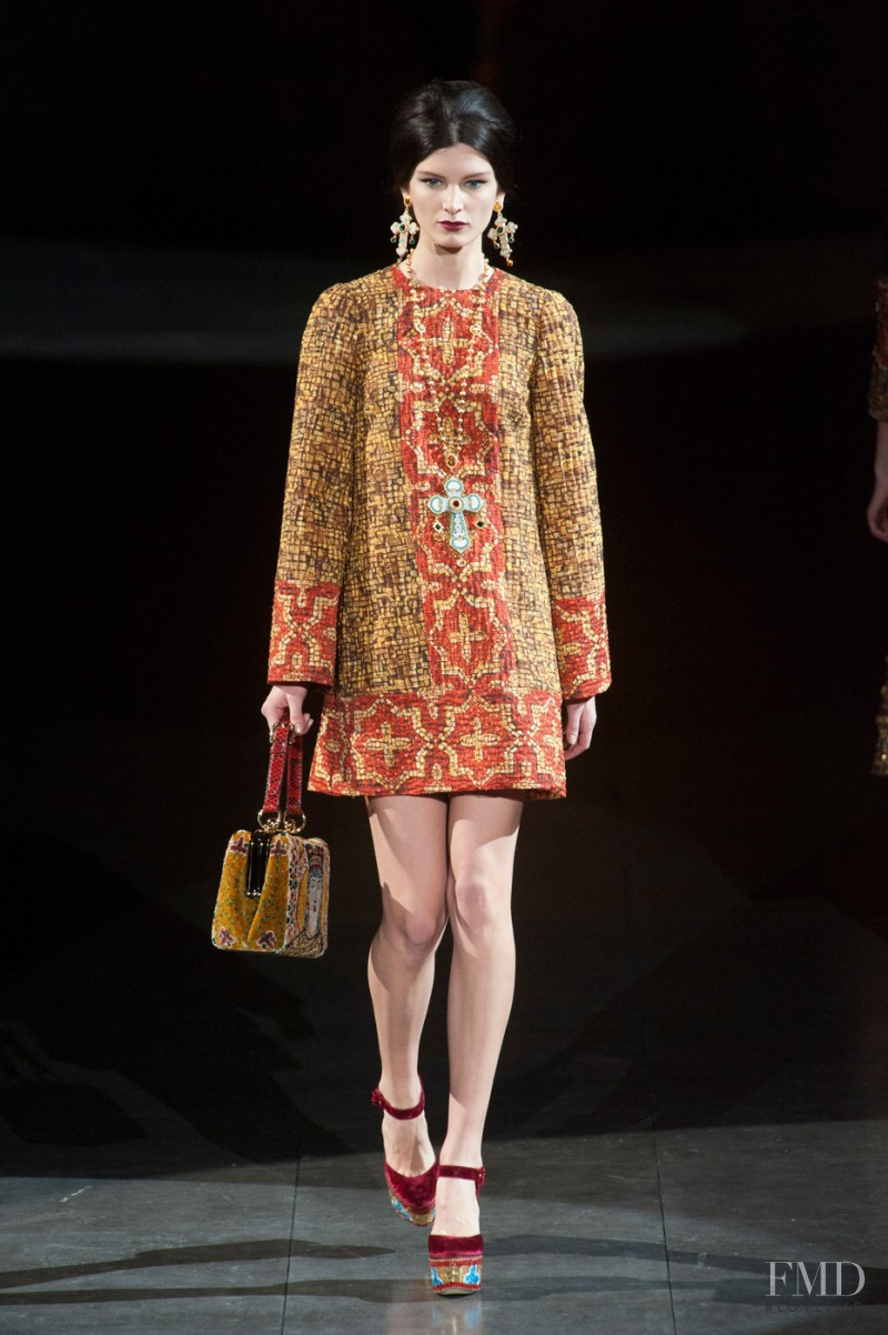 Ava Smith featured in  the Dolce & Gabbana fashion show for Autumn/Winter 2013