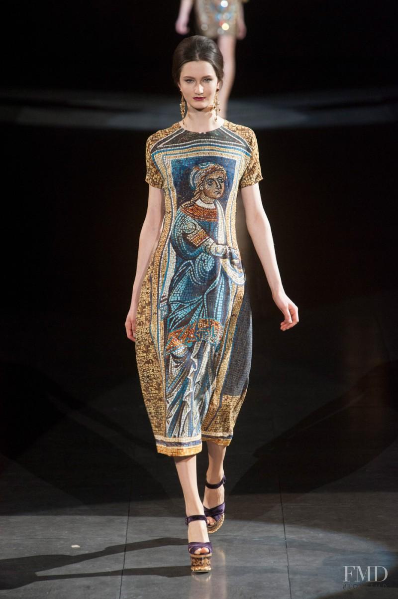 Mackenzie Drazan featured in  the Dolce & Gabbana fashion show for Autumn/Winter 2013
