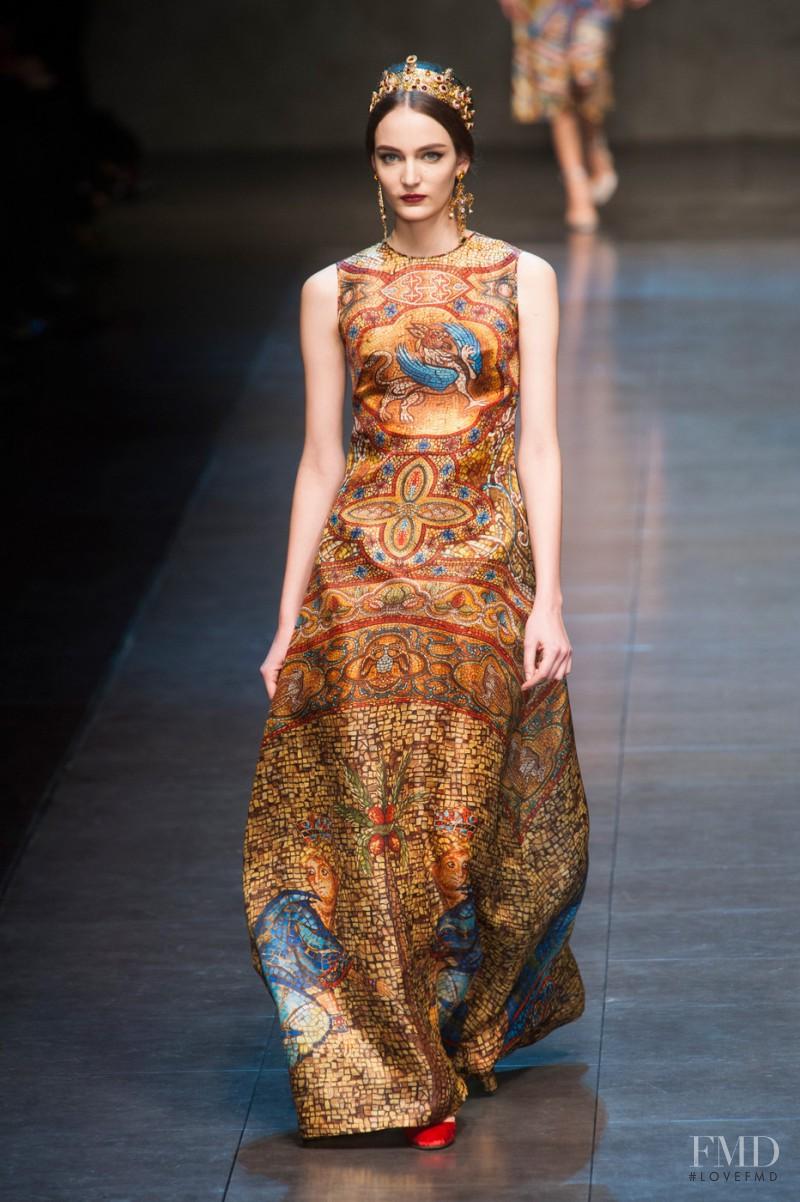 Zuzanna Bijoch featured in  the Dolce & Gabbana fashion show for Autumn/Winter 2013