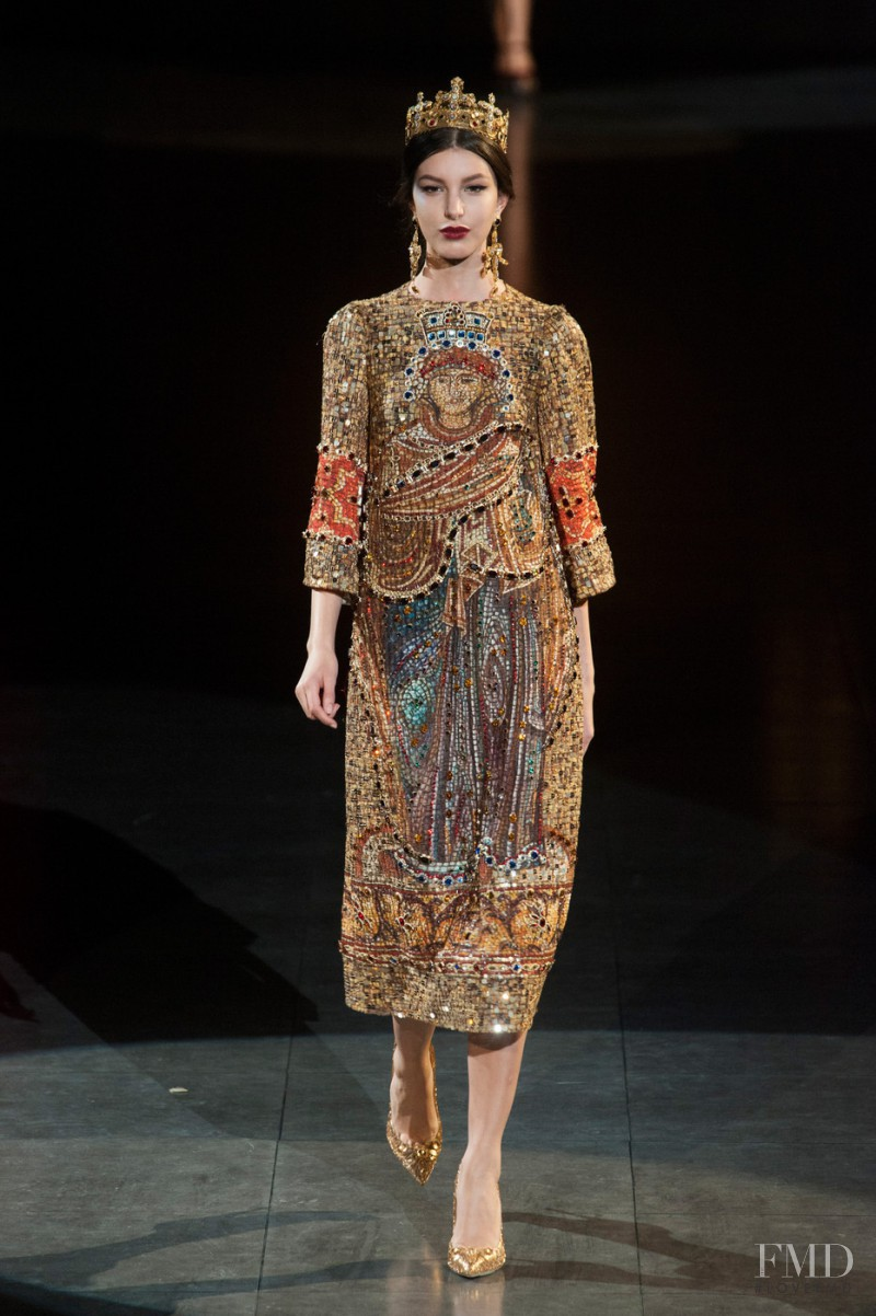 Kate King featured in  the Dolce & Gabbana fashion show for Autumn/Winter 2013