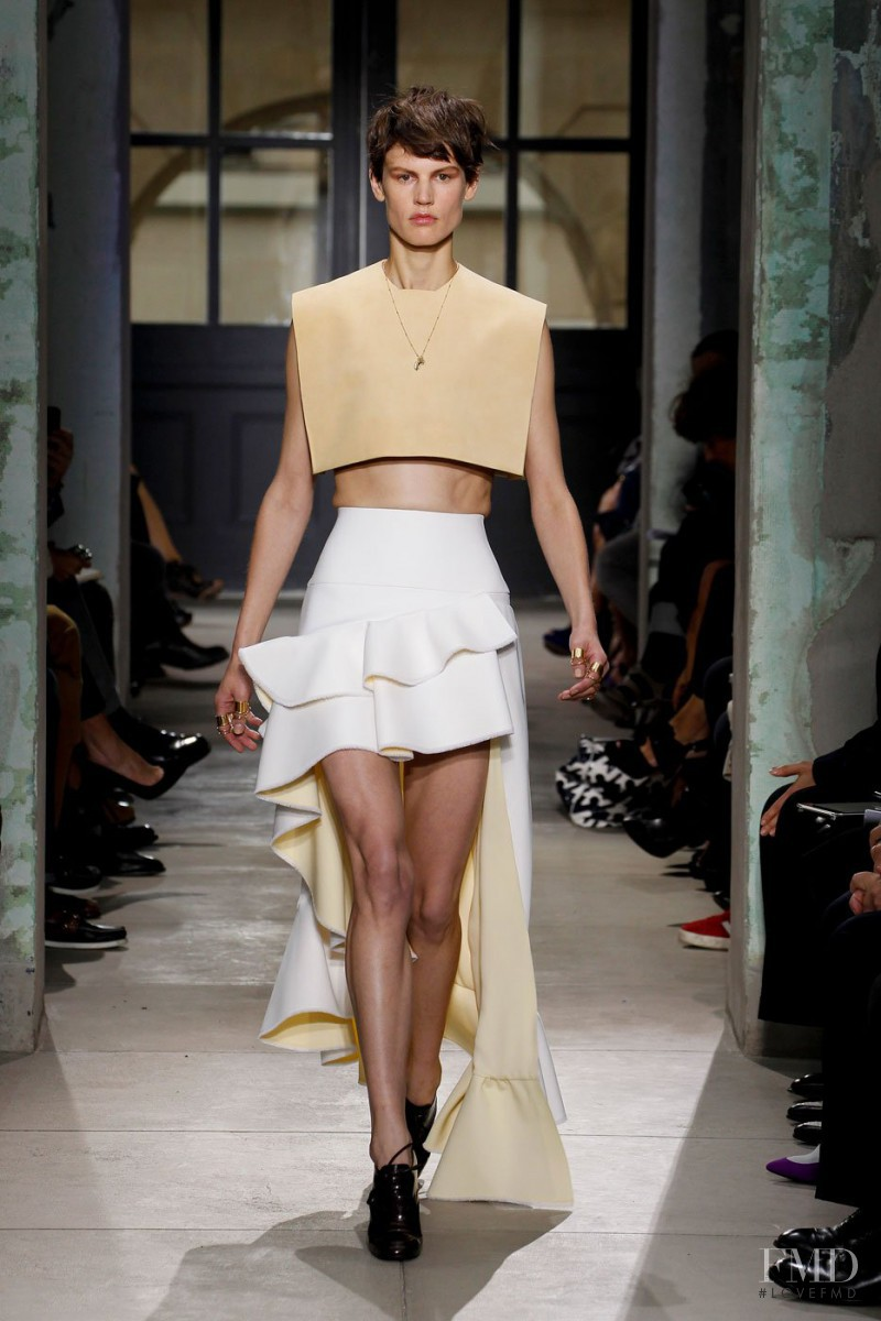 Saskia de Brauw featured in  the Balenciaga fashion show for Spring/Summer 2013