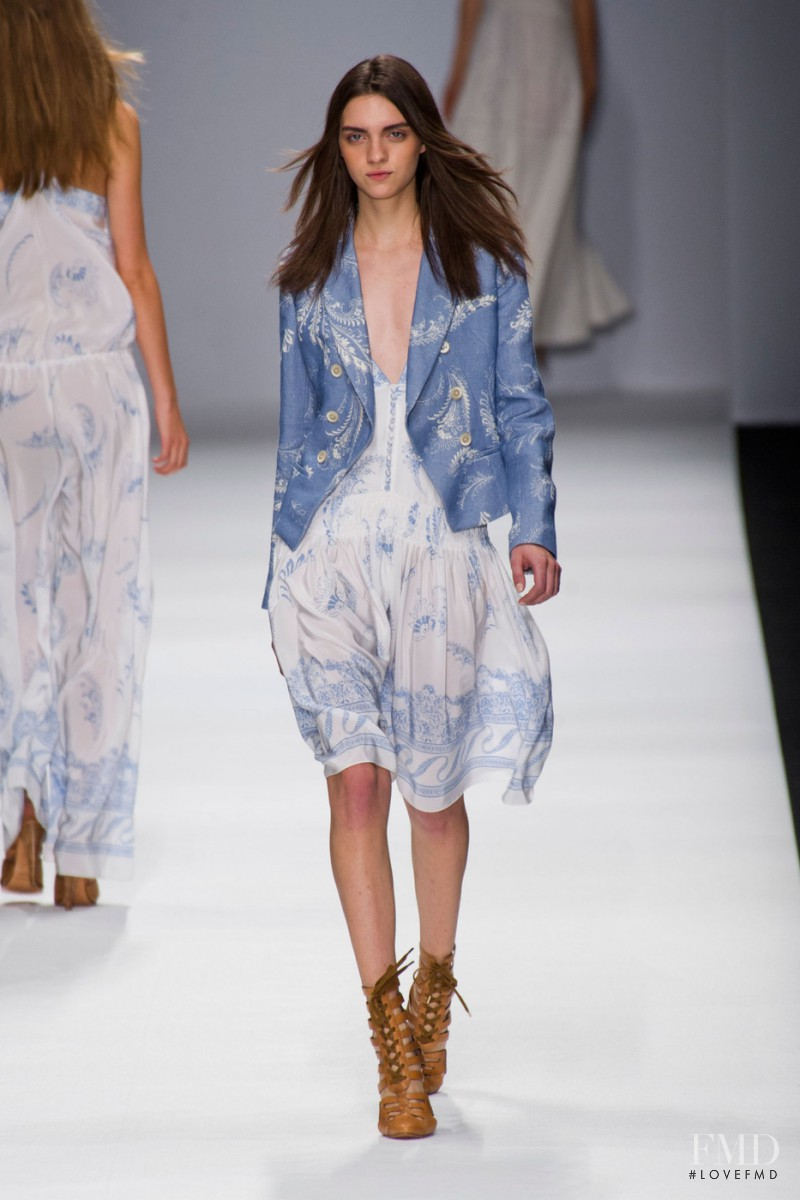 Magda Laguinge featured in  the Vanessa Bruno fashion show for Spring/Summer 2013