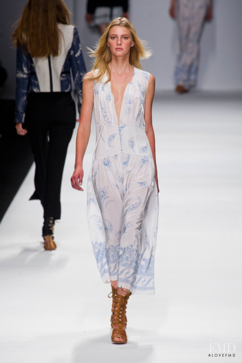 Sigrid Agren featured in  the Vanessa Bruno fashion show for Spring/Summer 2013