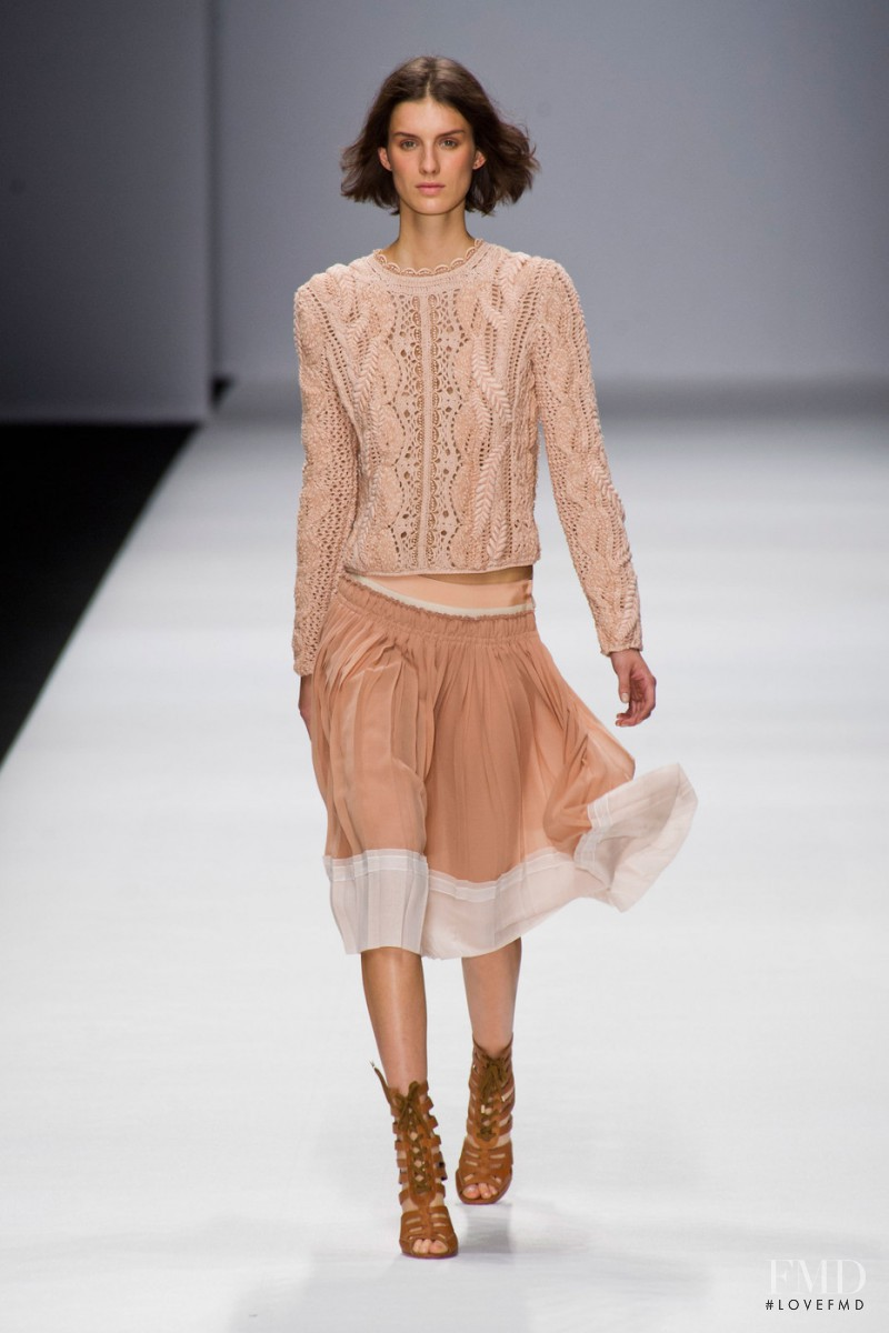 Marte Mei van Haaster featured in  the Vanessa Bruno fashion show for Spring/Summer 2013
