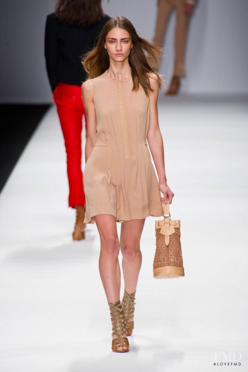 Marine Deleeuw featured in  the Vanessa Bruno fashion show for Spring/Summer 2013