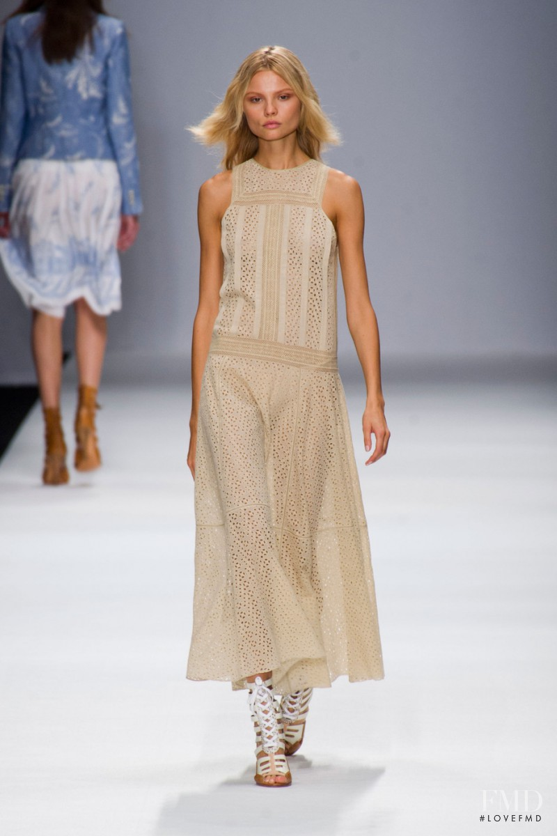 Magdalena Frackowiak featured in  the Vanessa Bruno fashion show for Spring/Summer 2013