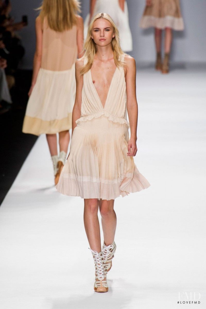 Anabela Belikova featured in  the Vanessa Bruno fashion show for Spring/Summer 2013
