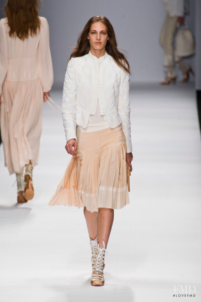 Othilia Simon featured in  the Vanessa Bruno fashion show for Spring/Summer 2013