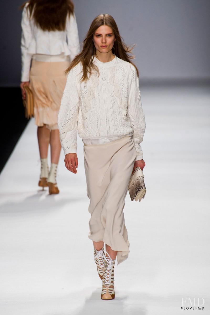 Caroline Brasch Nielsen featured in  the Vanessa Bruno fashion show for Spring/Summer 2013