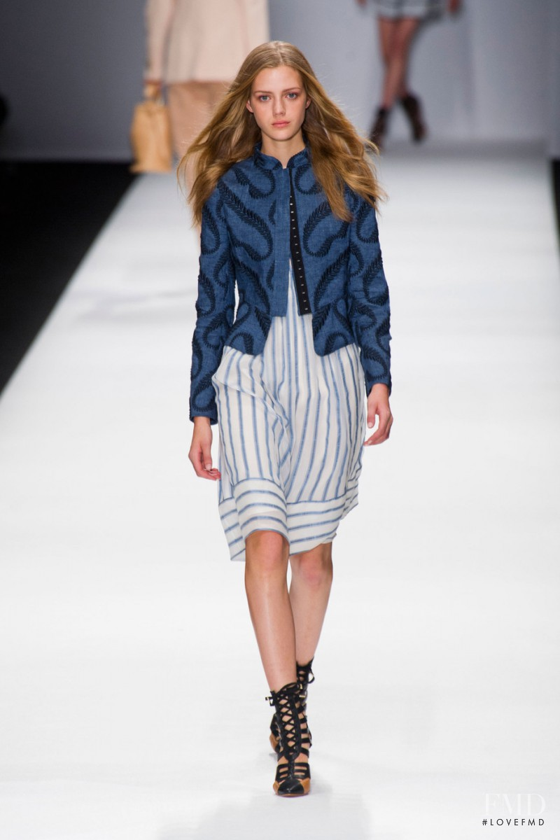 Esther Heesch featured in  the Vanessa Bruno fashion show for Spring/Summer 2013