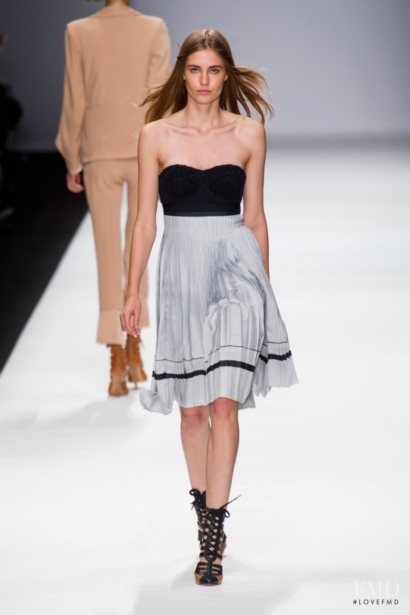 Nadja Bender featured in  the Vanessa Bruno fashion show for Spring/Summer 2013