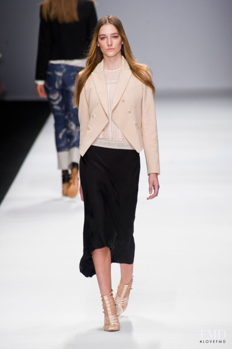 Joséphine Le Tutour featured in  the Vanessa Bruno fashion show for Spring/Summer 2013