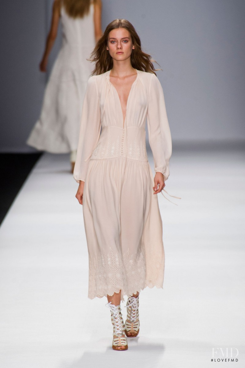 Monika Jagaciak featured in  the Vanessa Bruno fashion show for Spring/Summer 2013
