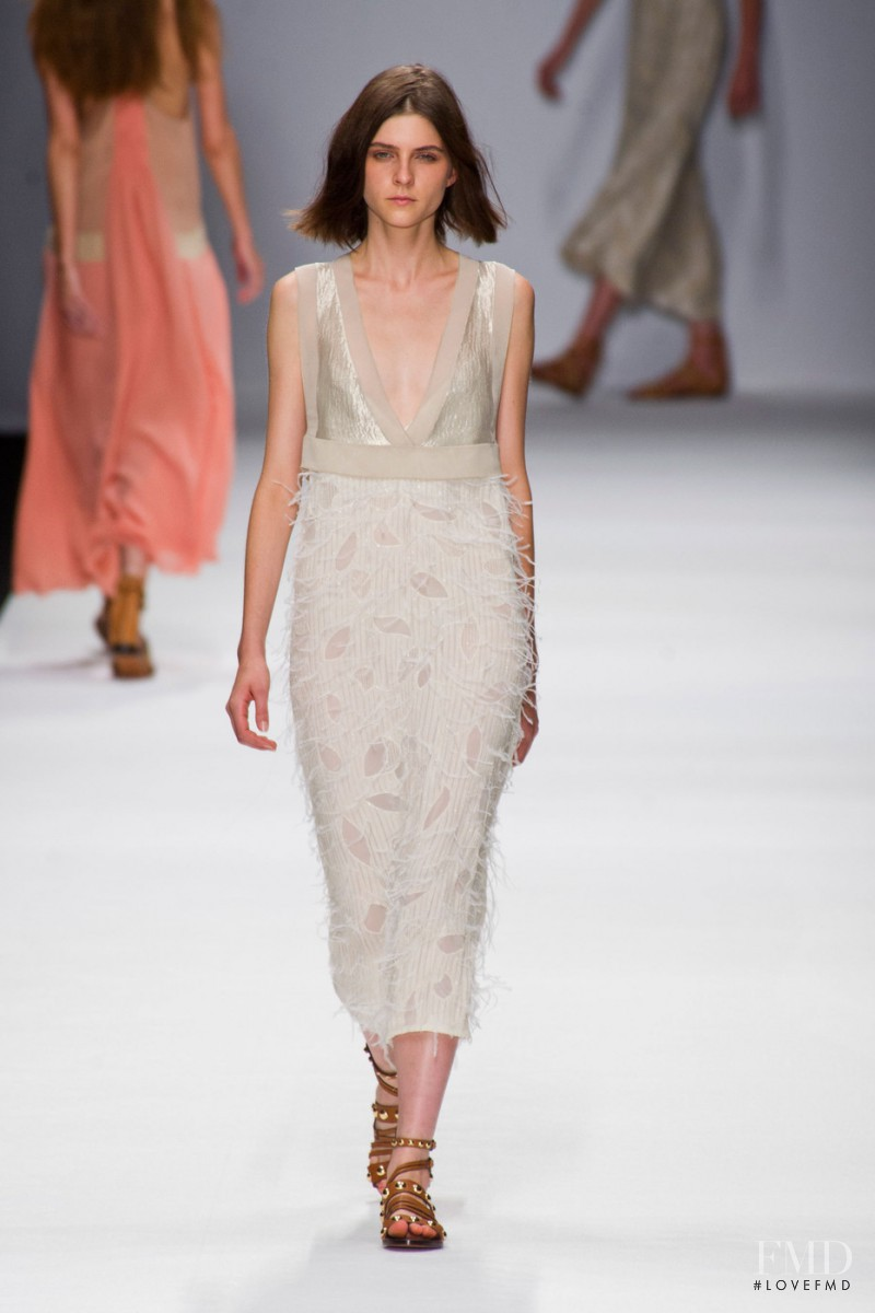 Kel Markey featured in  the Vanessa Bruno fashion show for Spring/Summer 2013