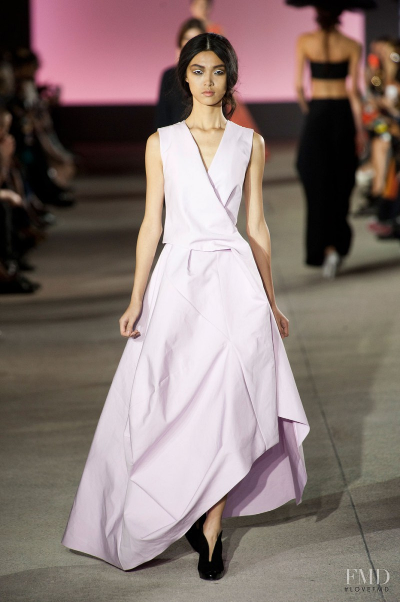 Tian Yi featured in  the John Galliano fashion show for Spring/Summer 2013