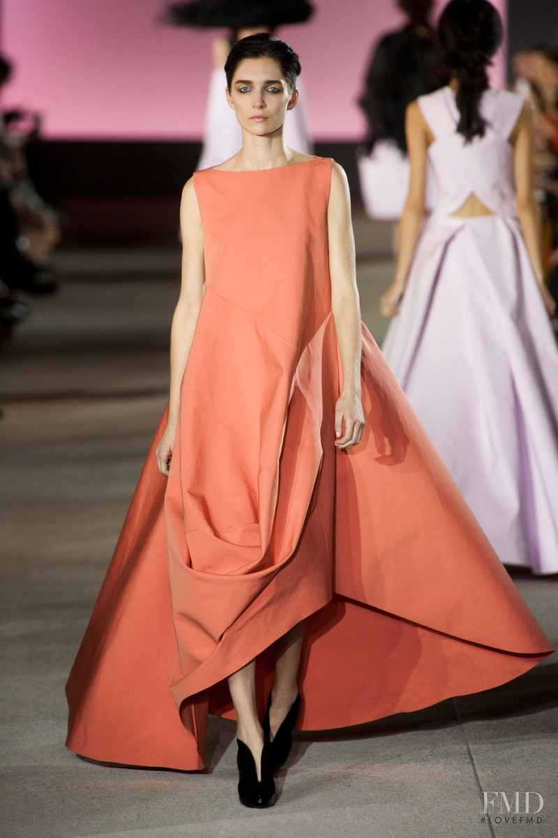 Janice Alida featured in  the John Galliano fashion show for Spring/Summer 2013