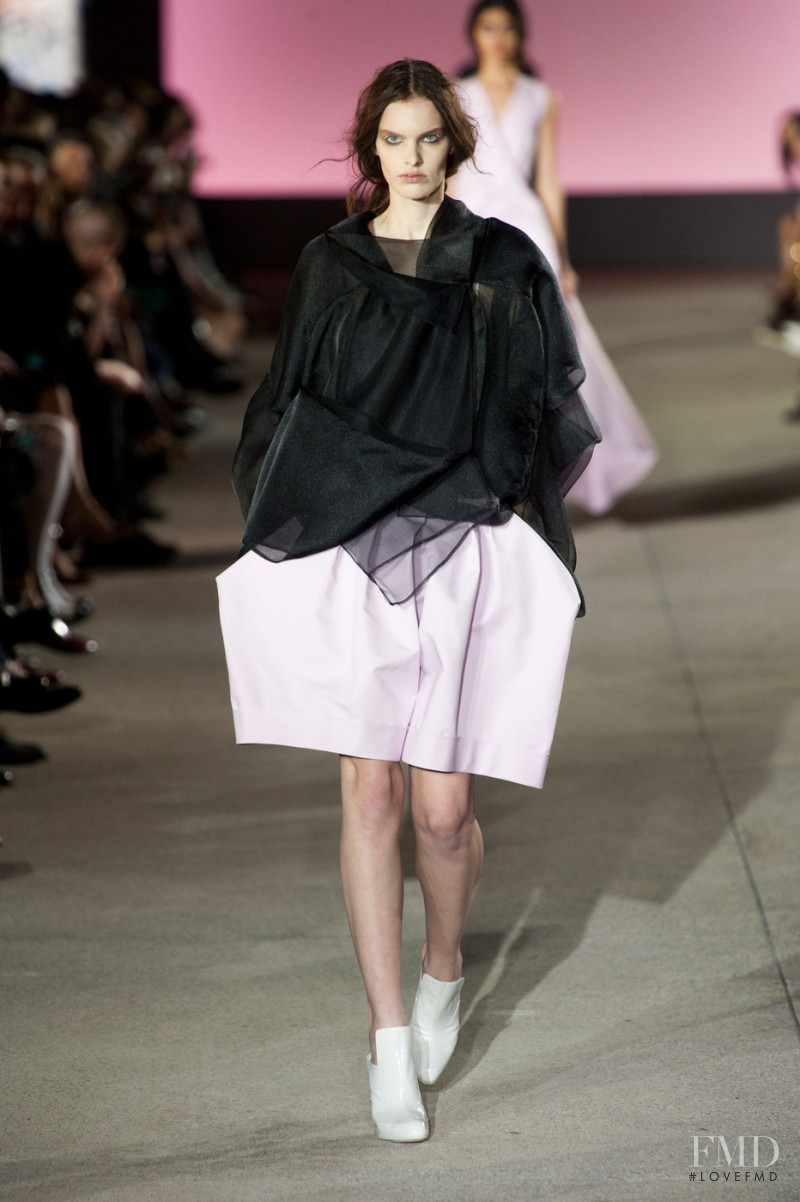 Lisa Verberght featured in  the John Galliano fashion show for Spring/Summer 2013