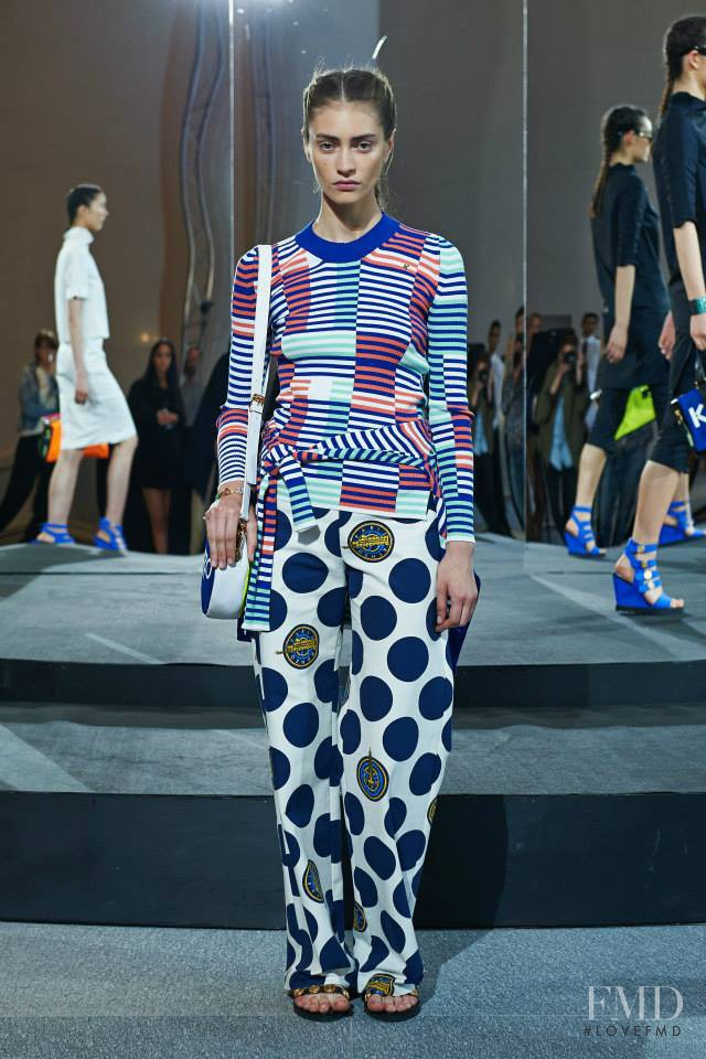 Marine Deleeuw featured in  the Kenzo fashion show for Resort 2015