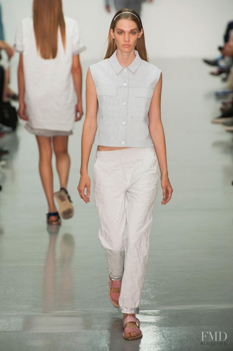 Irina Nikolaeva featured in  the Richard Nicoll fashion show for Spring/Summer 2015