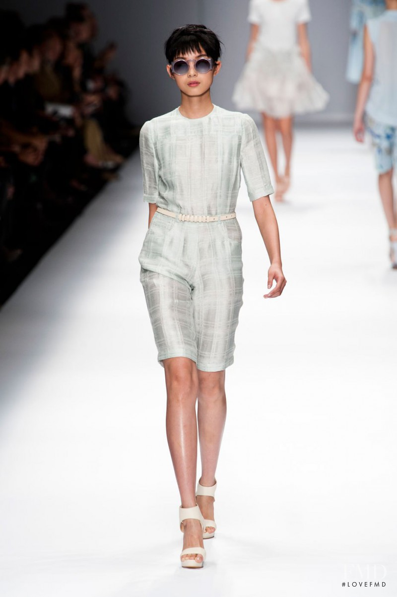 Xiao Wen Ju featured in  the Cacharel fashion show for Spring/Summer 2013