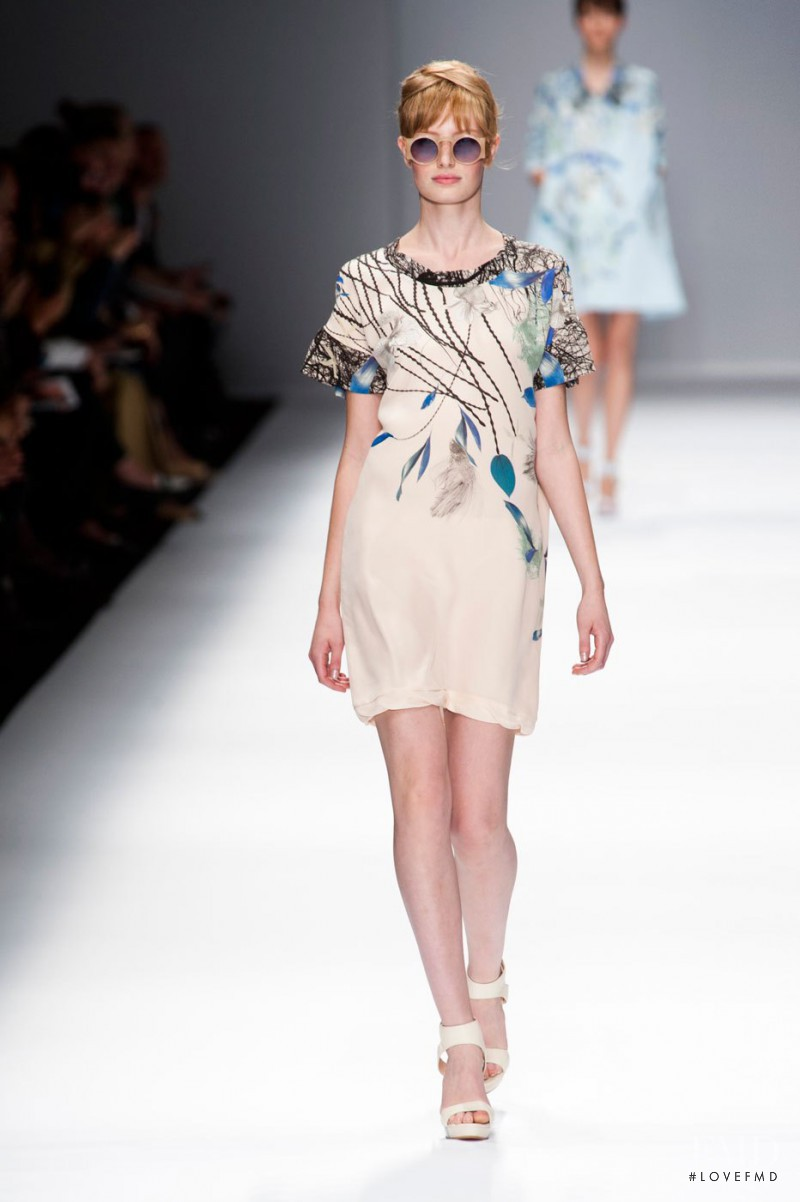 Stephanie Hall featured in  the Cacharel fashion show for Spring/Summer 2013