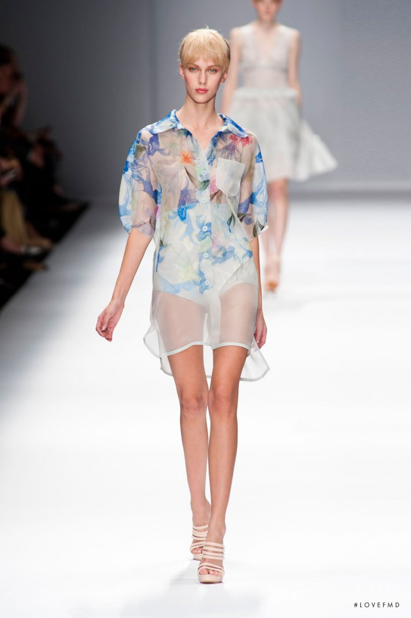 Juliana Schurig featured in  the Cacharel fashion show for Spring/Summer 2013