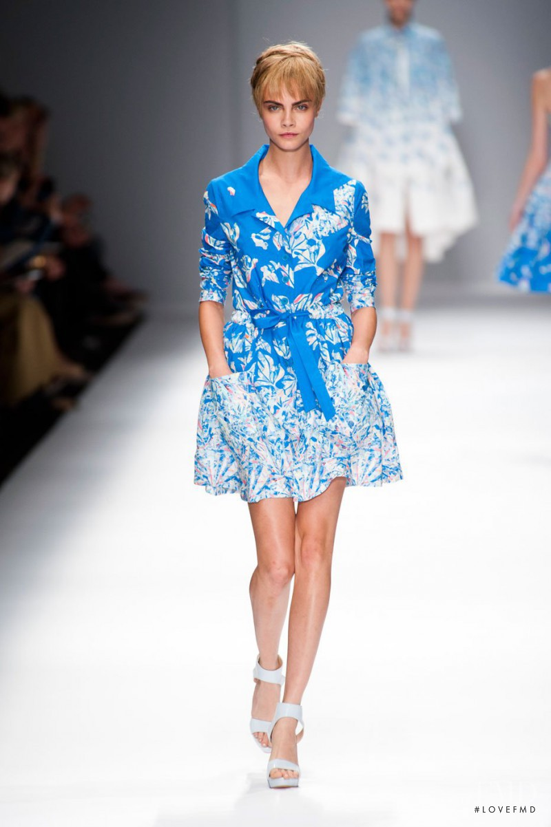 a57524168c2 Cara Delevingne featured in the Cacharel fashion show for Spring/Summer 2013