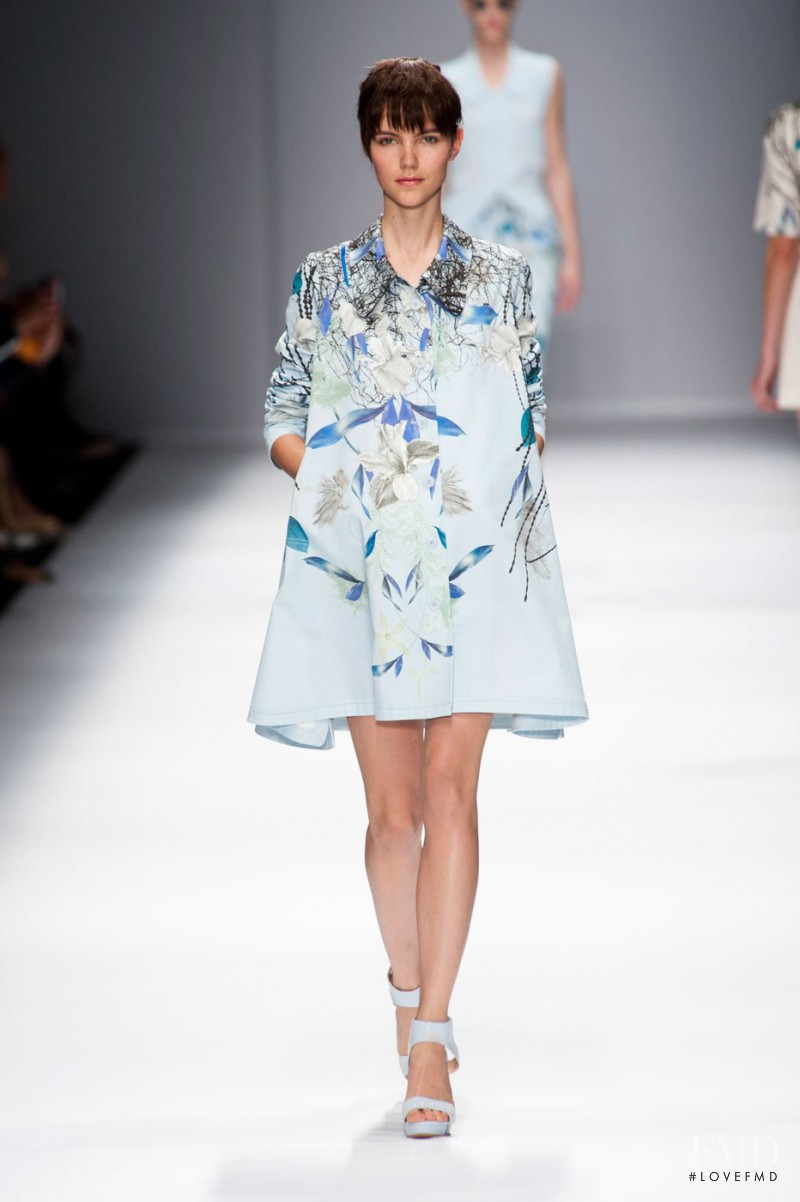 Agnes Nabuurs featured in  the Cacharel fashion show for Spring/Summer 2013