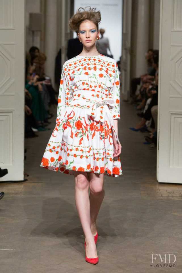 Sasha Luss featured in  the Alexander Terekhov fashion show for Spring/Summer 2013
