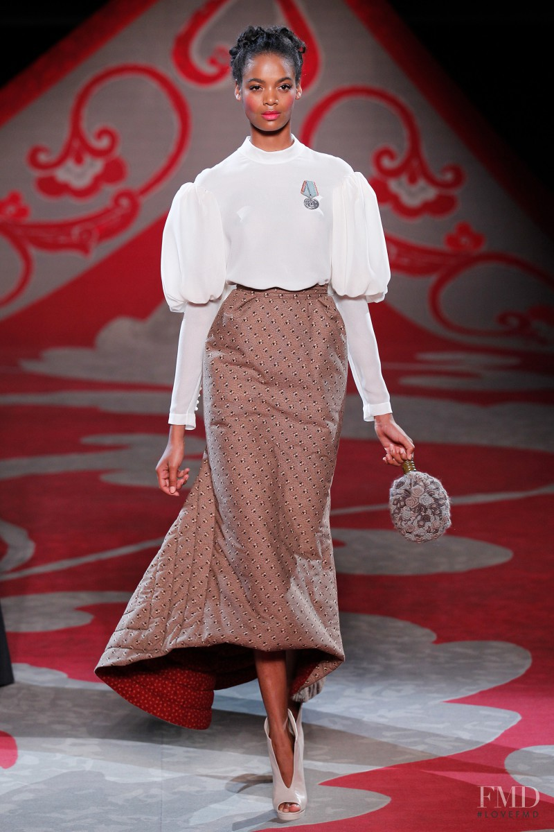 Roberta Narciso featured in  the Ulyana Sergeenko fashion show for Autumn/Winter 2012